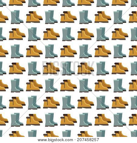 Rain boots seamless pattern design. Background with rain boots. Vector illustration