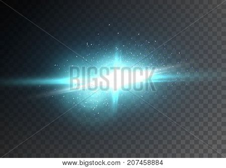 Illustration of Vector Flash LIght Lens Flare. Transparent Explosion Effect