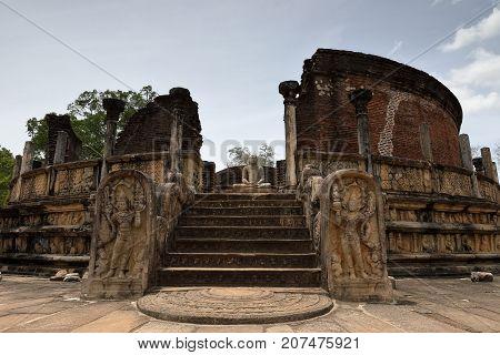 The palace ruins of Polonnaruwa in Sri Lanka