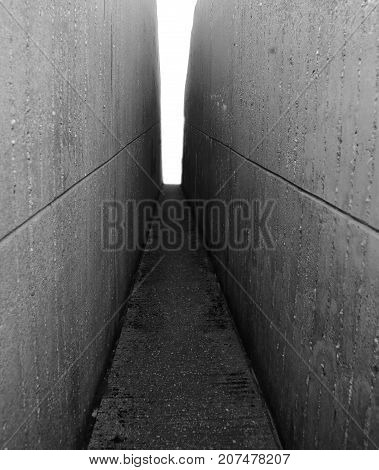 Wall Leading To The Light At The Bottom Of The Tunnel