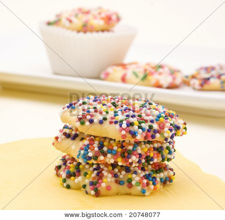 Butter Cookies Decorated with Sprinkles