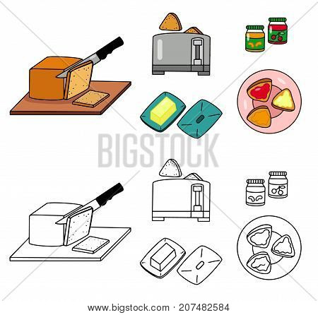 Recipe Toasts vector diy instruction manual illustration sketch colorful