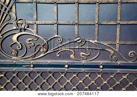 Magnificent Wrought-iron Gates, Ornamental Forging, Forged Elements Close-up