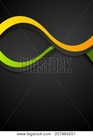 Contrast abstract wavy background