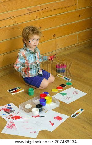Kid Learning And Playing