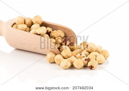 Closeup View Of Hazelnuts