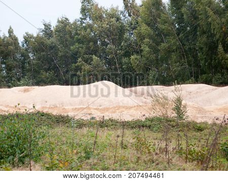 Mound Pile Of Sand At Construction Material Quarry