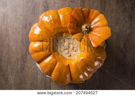 Pumpkin With Dried Meat (carne Seca Na Moranga) - Dried Meat With A Creamy Coconut Milk Sauce Served