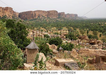 Dogon village at Bandiagara Escarpment in Mali, Africa