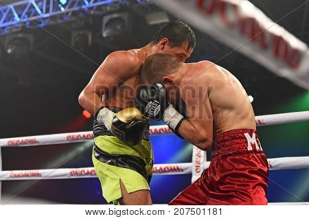 An Unidentified Boxers In The Ring During Fight For Ranking Points