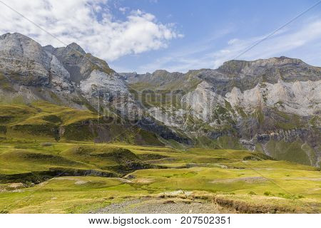 Image from the center of the glacial Cirque of Troumouse one of the largest from the Europe.