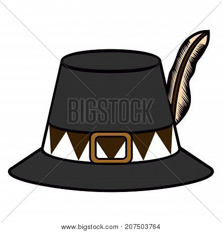 Isolated Pilgrim Hat