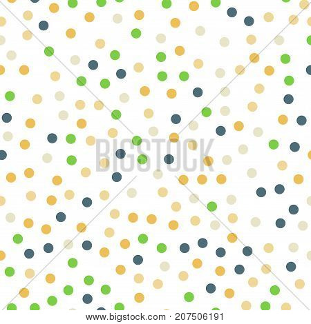 Colorful Polka Dots Seamless Pattern On Black 13 Background. Bewitching Classic Colorful Polka Dots
