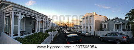 Panoramic View Of  Auckland Cbd Skyline As Seen East From Ponsonby