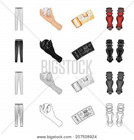Pants, clothing, sports, and other  icon in cartoon style.Attributes, clothes, dress icons in set collection