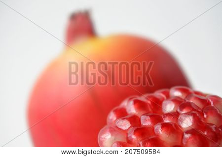 Pomegranate.fruit And Seeds