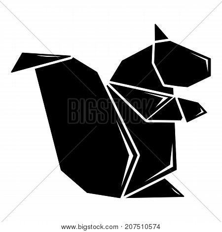 Origami squirrel icon. Simple illustration of origami squirrel vector icon for web