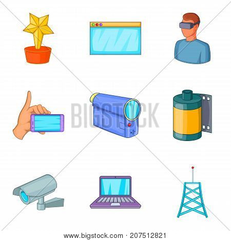 Fieldwork icons set. Cartoon set of 9 fieldwork vector icons for web isolated on white background