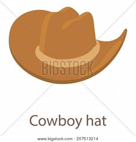 Cowboy hat icon. Isometric illustration of cowboy hat icon for web