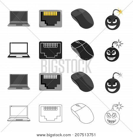Computer, system, office and other  icon in cartoon style.Protection, block, antivirus, icons in set collection