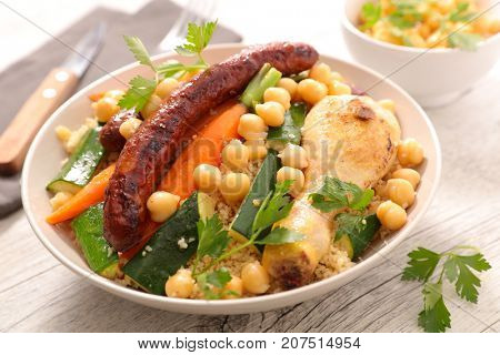 couscous with meat and vegetable