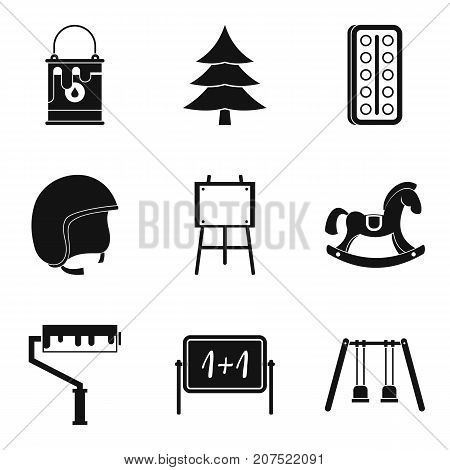 Expectations child icons set. Simple set of 9 expectations child vector icons for web isolated on white background