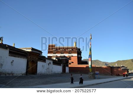 The Life Around Labrang In Xiahe, Amdo Tibet, China. Monks Are Everywhere!