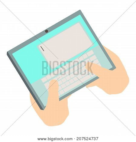 Write tablet icon. Isometric illustration of write tablet icon for web