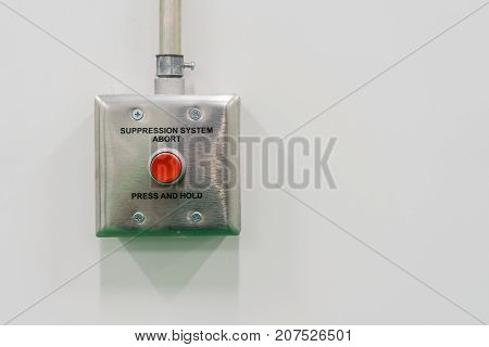 Fire Suppression System press and hold while fire alarm