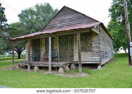 old dilapidated building on a plantation in Cane River Creole National Historical Park, LA