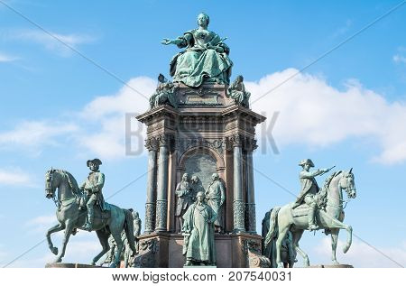 Austria Vienna the Empress Maria Theresia Monument in Theresien square