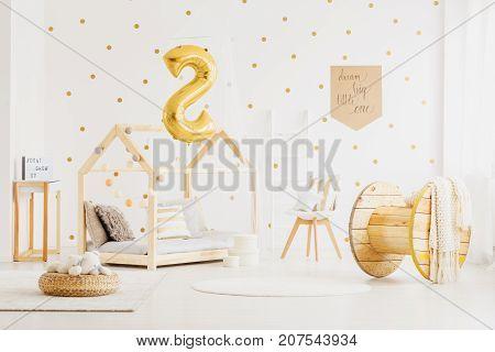 Handmade Wooden Child's Bed