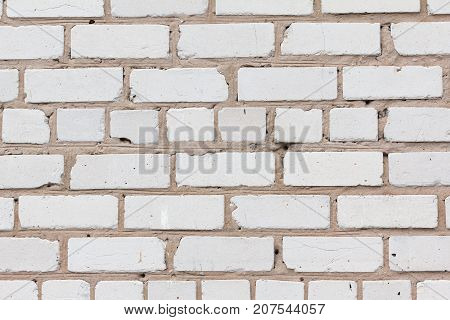 Abstract weathered brick texture old stucco light gray aged wall background