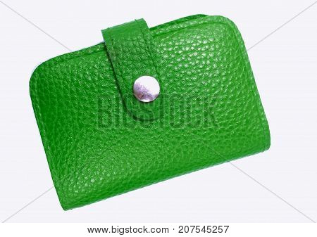 Leather money wallet isolate on white background
