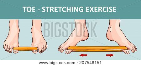 Woman's foot with elastic band performing stretching exercise
