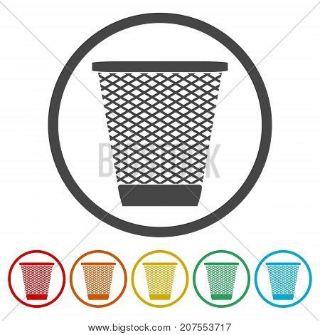 Vector Recycle Bin Trash and Garbage icons set
