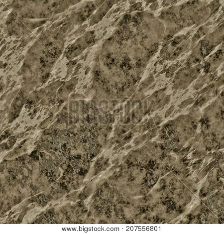 2d illustration of a brown marble texture background