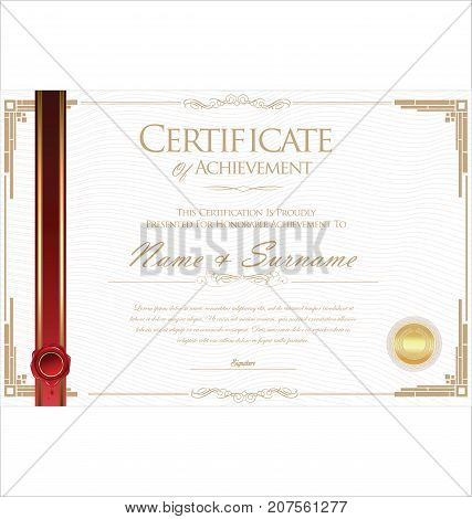 Certificate Or Diploma Retro Design Vector Template 3.eps