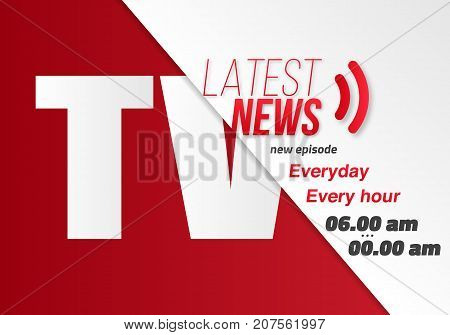 Illustration of News Banner Template. Vector News Opener. Broadcast Design Layout