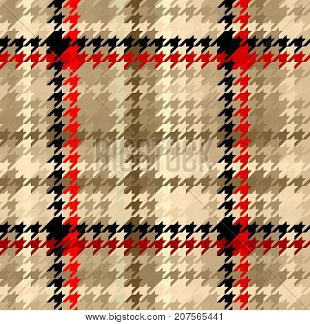 Seamless geometric pattern. Plaid pattern of classic Hounds-tooth pattern.