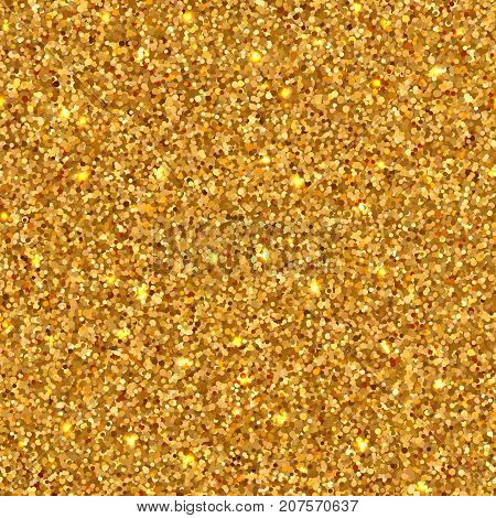Bright shiny seamless of placer gold bright sparkles glittering confetti for luxory festive background