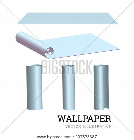Realistic vector illustration of a paper roll for walls EPS10