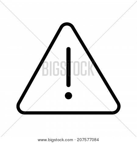 Vector of Danger icon in Triangle line iconic symbol on white background. Vector Iconic Design.