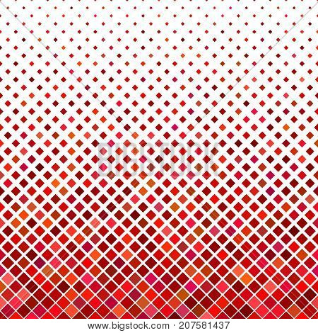 Abstract diagonal square pattern background design - geometric vector graphic from squares in red tones