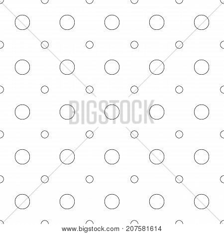 Repeating abstract monochrome circle pattern - halftone vector background design from circles in two sizes