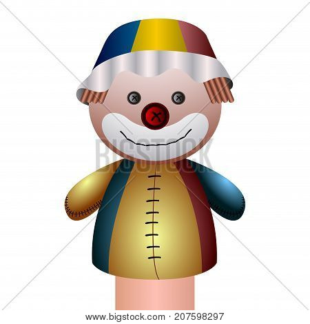 Isolated Clown Puppet