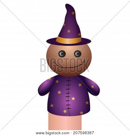Isolated Wizard Puppet