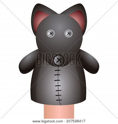 Isolated Mouse Puppet