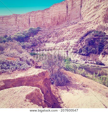Canyon En Avedat of the Negev Desert in Israel Instagram Effect