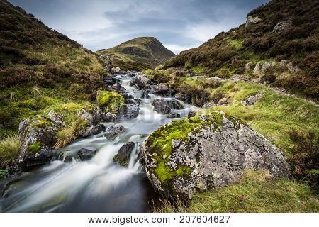 The Outflow from Loch Skeen on Tail Burn above The Grey Mares Tail